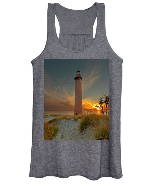 Sunset At Petite Pointe Au Sable Women's Tank Top