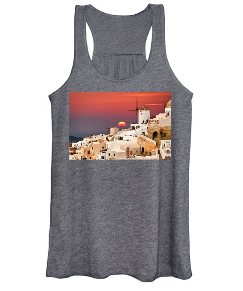 sunset at Santorini Women's Tank Top