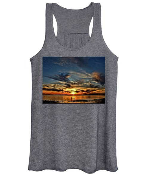 Sunset At The Waters Edge Women's Tank Top