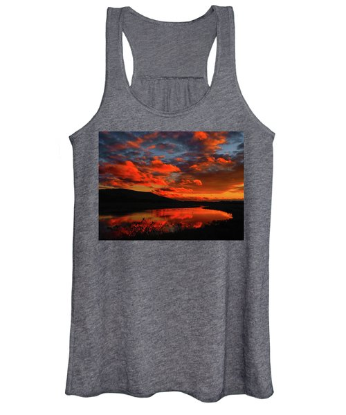 Sunset At Wallkill River National Wildlife Refuge Women's Tank Top