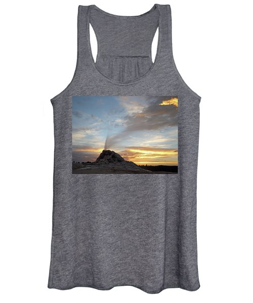 Sunset At White Dome Geyser Women's Tank Top