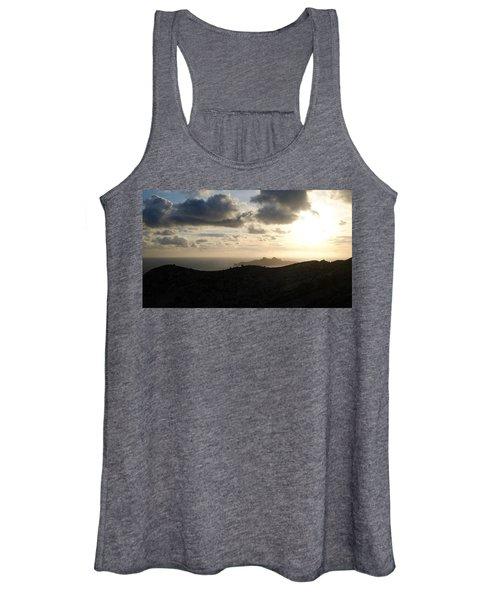 Sunset Dragon Island Women's Tank Top