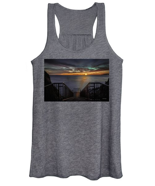 Sunset From Sandpiper Staircase Women's Tank Top
