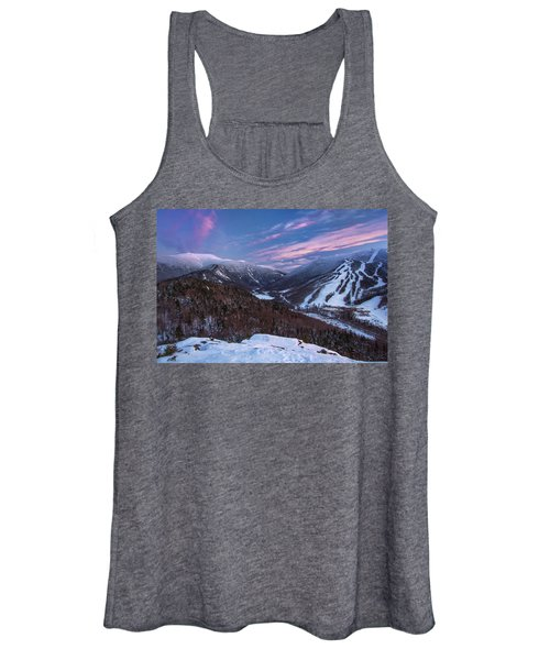 Sunset Glow Over Cannon Mountain Women's Tank Top