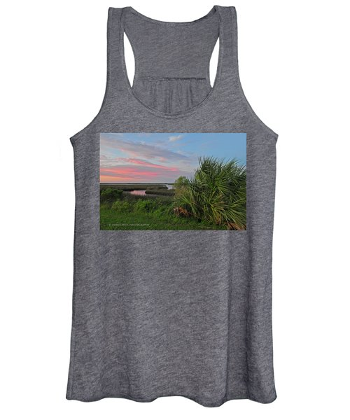 D32a-89 Sunset In Crystal River, Florida Photo Women's Tank Top
