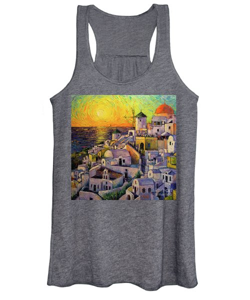 Sunset In Santorini Women's Tank Top
