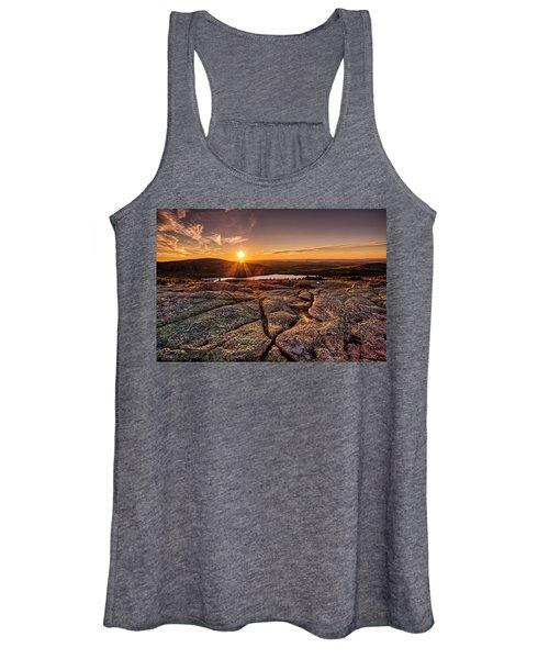 Sunset On Cadillac Mountain Women's Tank Top