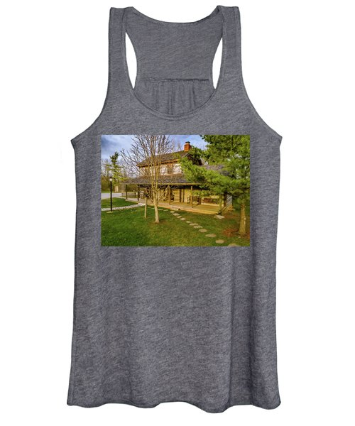Sunset On The Cabin Women's Tank Top