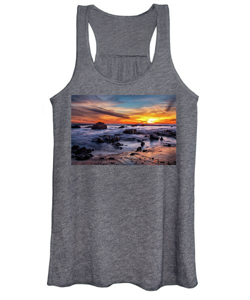Sunset On The Rocks Women's Tank Top