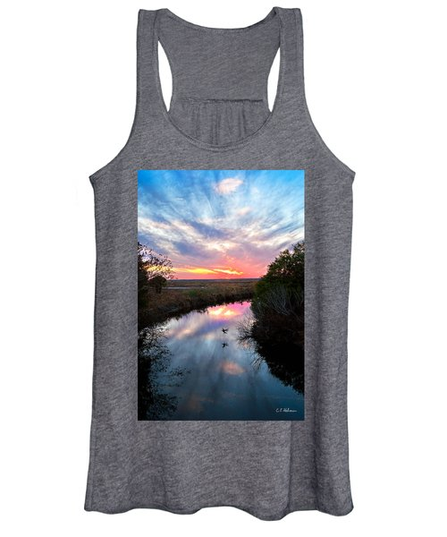 Sunset Over The Marsh Women's Tank Top