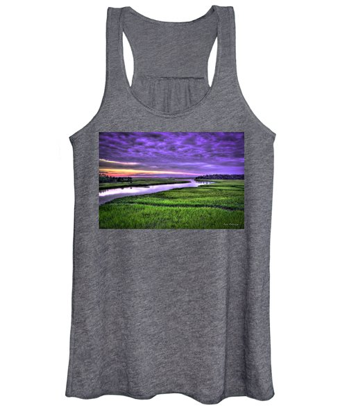 Sunset Over Turners Creek Savannah Tybee Island Ga Women's Tank Top