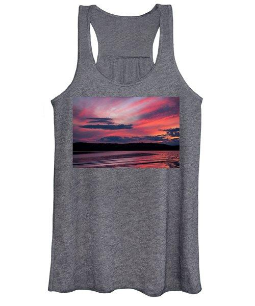 Sunset Red Lake Women's Tank Top