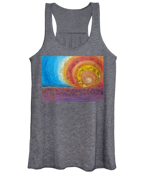 Sunset Unfurls Over Purple Sea Women's Tank Top