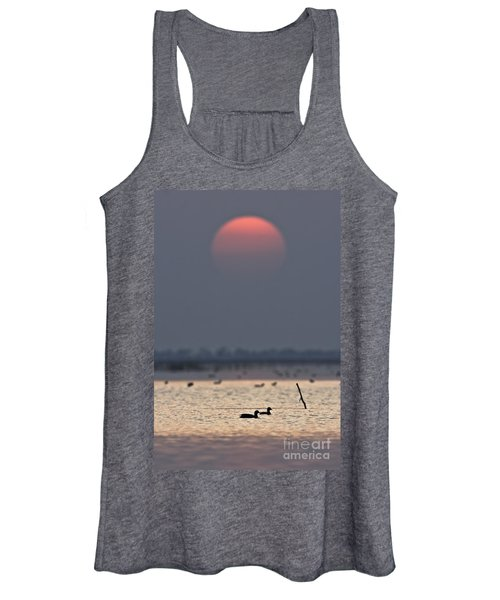 Sunset With Coots Women's Tank Top