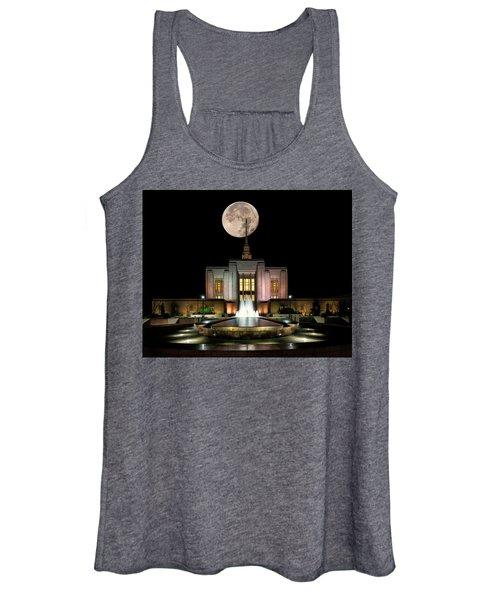 Super Moon At Ogden Lds Temple Women's Tank Top