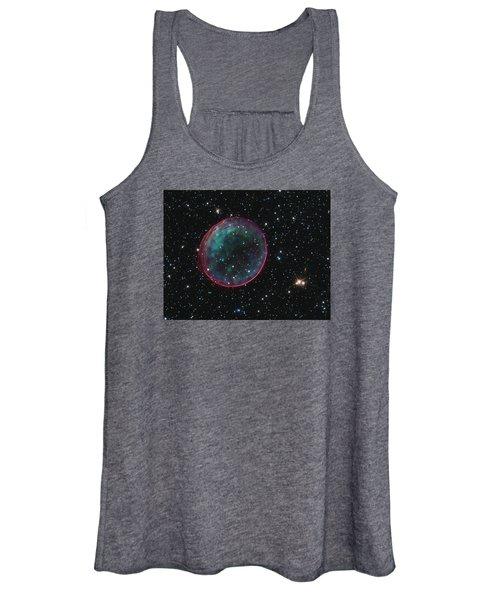 Supernova Bubble Resembles Holiday Ornament Women's Tank Top