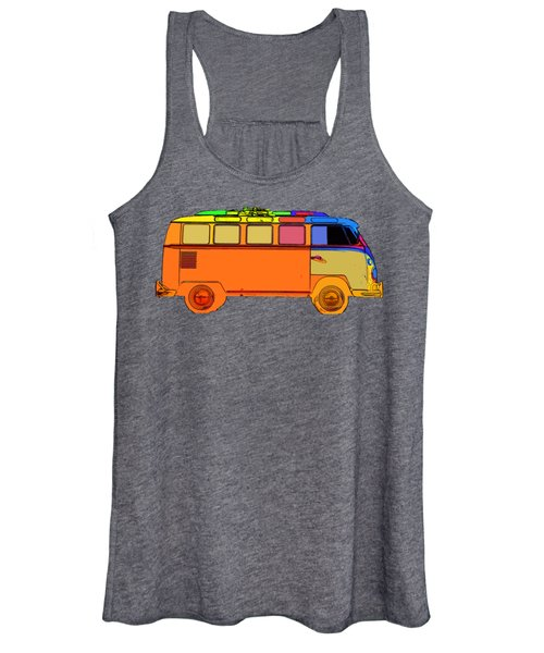Women's Tank Top featuring the photograph Surfer Van Transparent by Edward Fielding