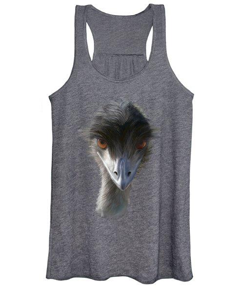 Suspicious Emu Stare Women's Tank Top