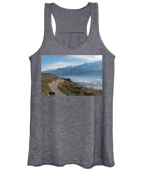 Swerving Road In Valtellina, Italy Women's Tank Top