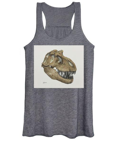 T. Rex Skull 2 Women's Tank Top
