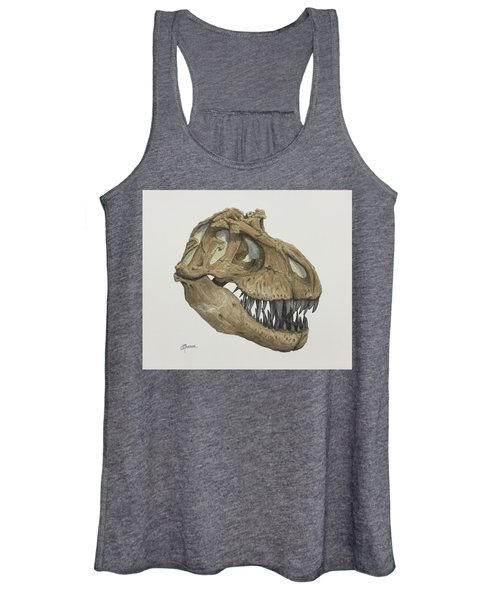 T. Rex Skull 2 Women's Tank Top