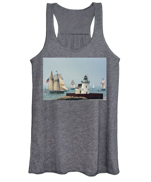 Tall Ships At Cleveland Lighthouse Women's Tank Top