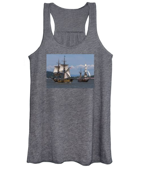 Tall Ships Square Off Women's Tank Top