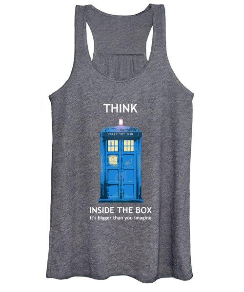 Tardis - Think Inside The Box Women's Tank Top