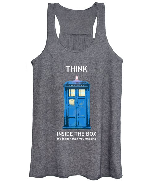 Tardis - Think Inside The Box Women's Tank Top