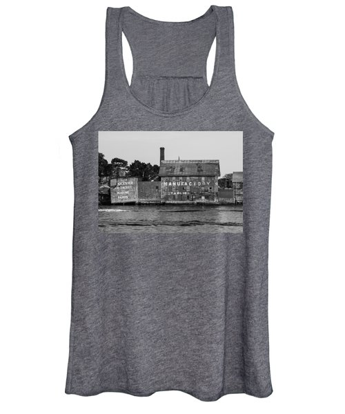 Tarr And Wonson Paint Manufactory In Black And White Women's Tank Top