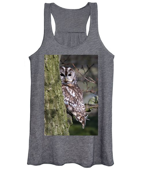Tawny Owl In A Woodland Women's Tank Top