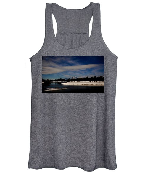 Tetons At Moonlight Women's Tank Top