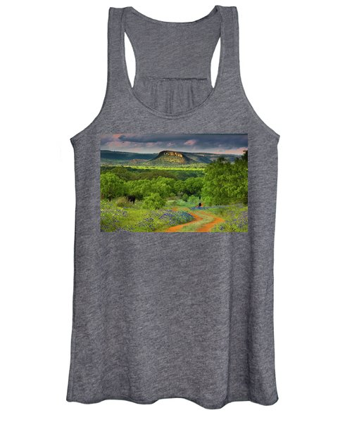 Texas Hill Country Ranch Road Women's Tank Top