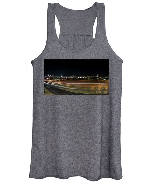 Texas University Tower And Downtown Austin Skyline From Ih35 Women's Tank Top