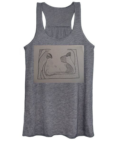 Textured Hippo Women's Tank Top