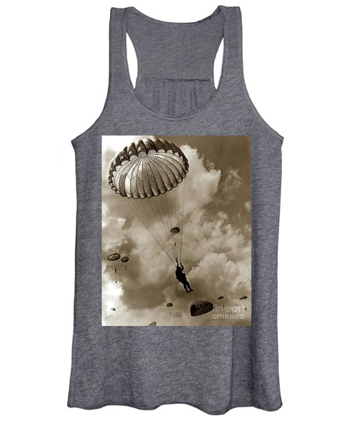 The 82nd Airborne  Hits The Silk Fort Ord 1953 Women's Tank Top