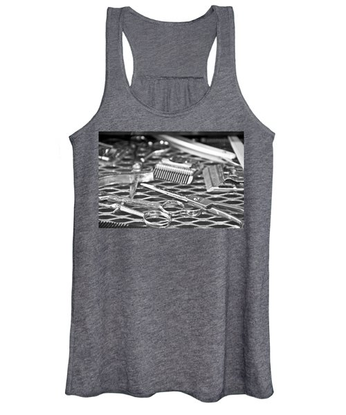 The Barber Shop 10 Bw Women's Tank Top