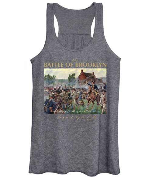 The Battle Of Brooklyn - Smallwood's Marylanders At The Old Stone House - Long Island  Women's Tank Top