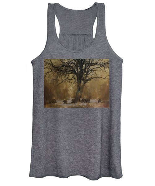 The Big Tree With Wild Boars Women's Tank Top
