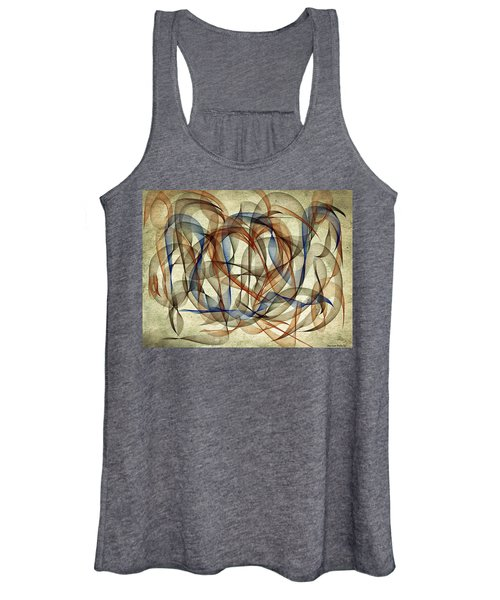 The Blues Abstract Women's Tank Top
