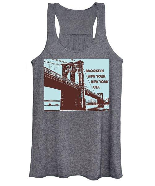 The Brooklyn Bridge, New York, Ny Women's Tank Top
