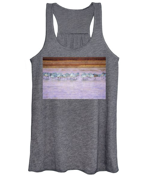 Women's Tank Top featuring the photograph The Cranes Of Bosque by Marla Craven
