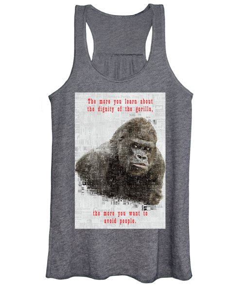 The Dignity Of A Gorilla Women's Tank Top
