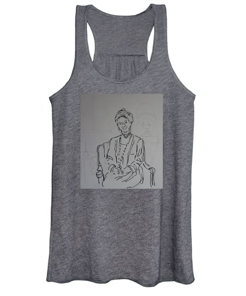 The Dowager Countess In Her Drawing Room At Dowton Abbey Women's Tank Top