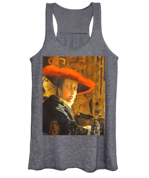 The Girl With The Red Hat After Jan Vermeer Women's Tank Top