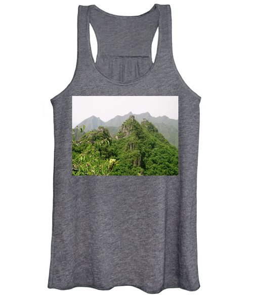 The Great Wall Of China Winding Over Mountains Women's Tank Top