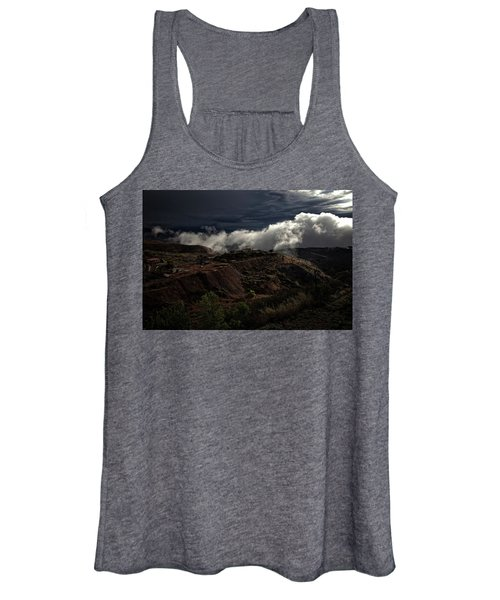 The Jerome State Park With Low Lying Clouds After Storm Women's Tank Top