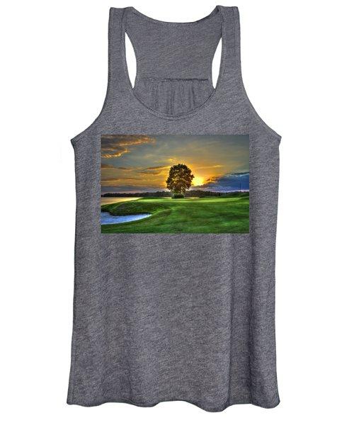The Landing Golf Course Reynolds Plantation Landscape Art Women's Tank Top