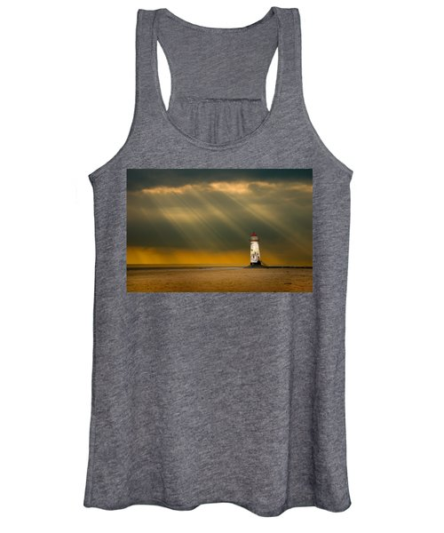 The Lighthouse As The Storm Breaks Women's Tank Top