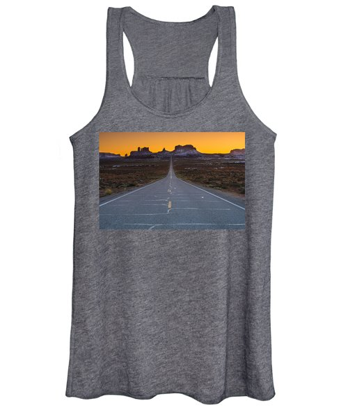 The Long Road To Monument Valley Women's Tank Top